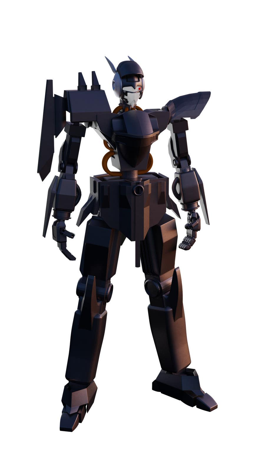 Bài tham dự cuộc thi #                                        28                                      cho                                         Anime Super Robot 3D Model Textured Rigged