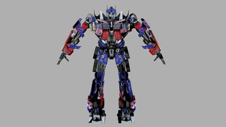 Entry #17 by BuleRobot for Anime Super Robot 3D Model