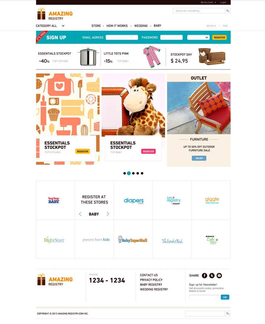 Конкурсная заявка №3 для Website Design for Amazing Registry.com, Inc.