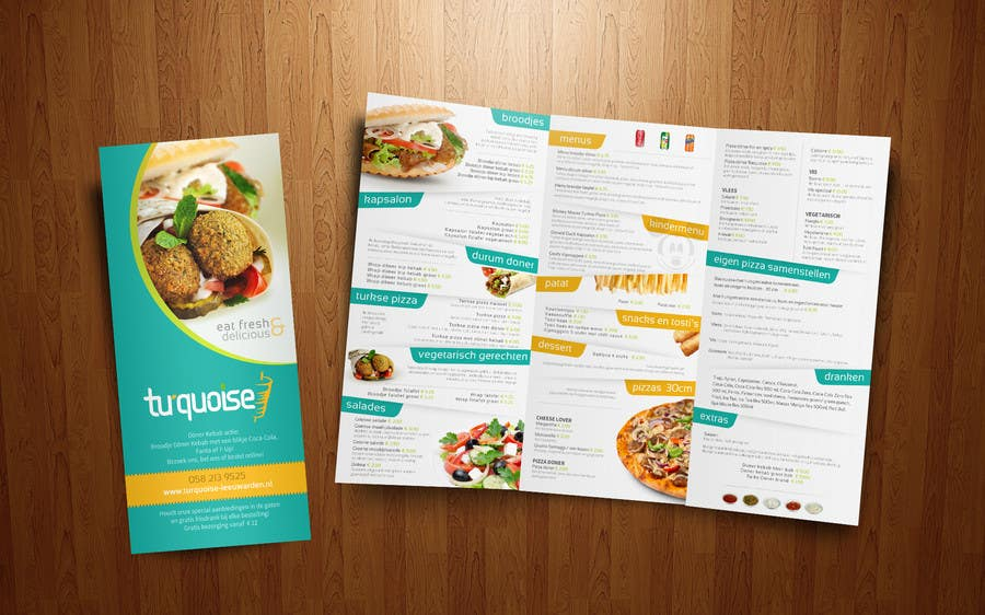 Modern restaurant menu design freelancer