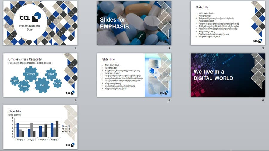 entry #37digitalguru27 for corporate identity powerpoint, Presentation templates