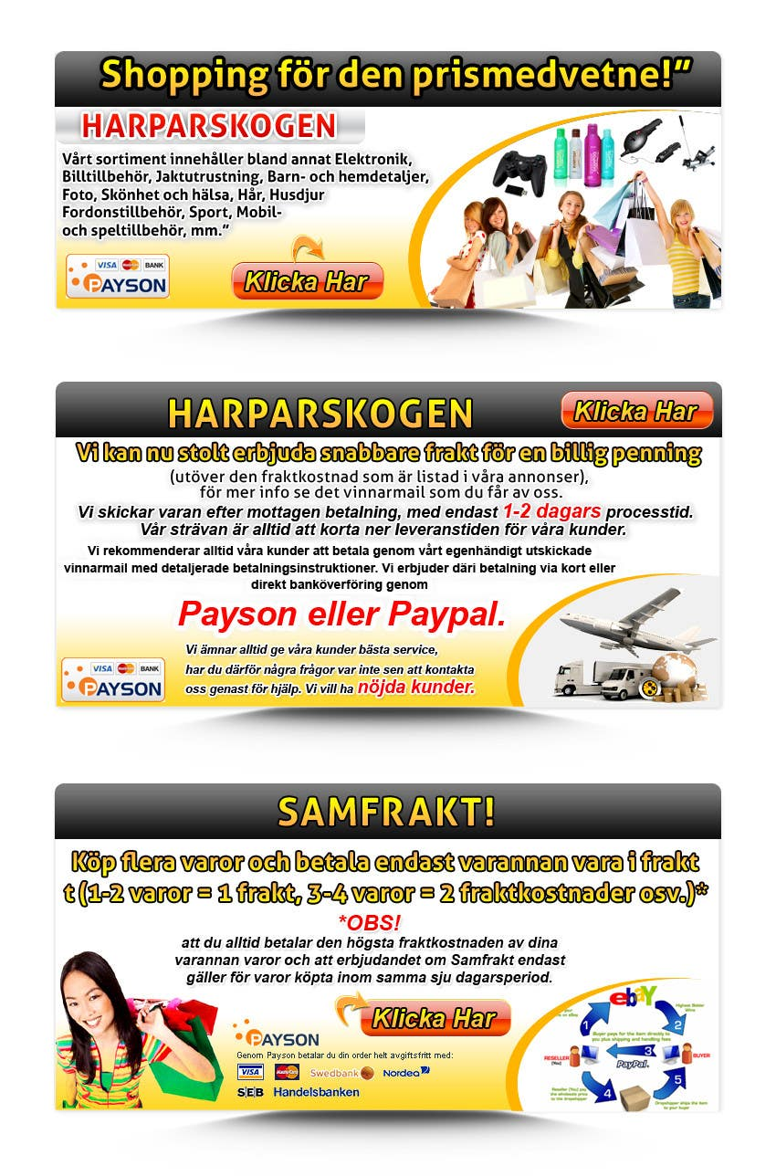 Konkurrenceindlæg #                                        7                                      for                                         Banner Ad Design for Unknown