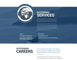 Nro 10 kilpailuun Redesign of www.shipping-services.de käyttäjältä kreativedelivery