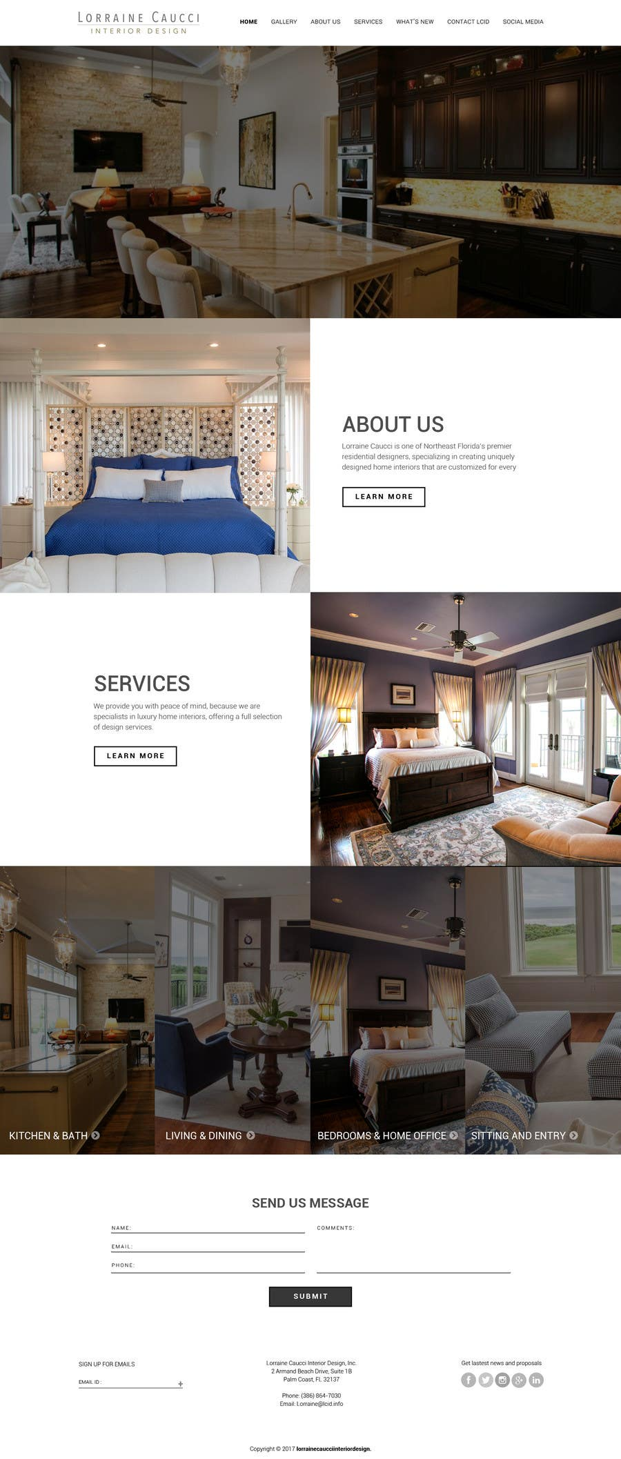 Entry #5 by saidesigner87 for New website design ideas for Interior ...