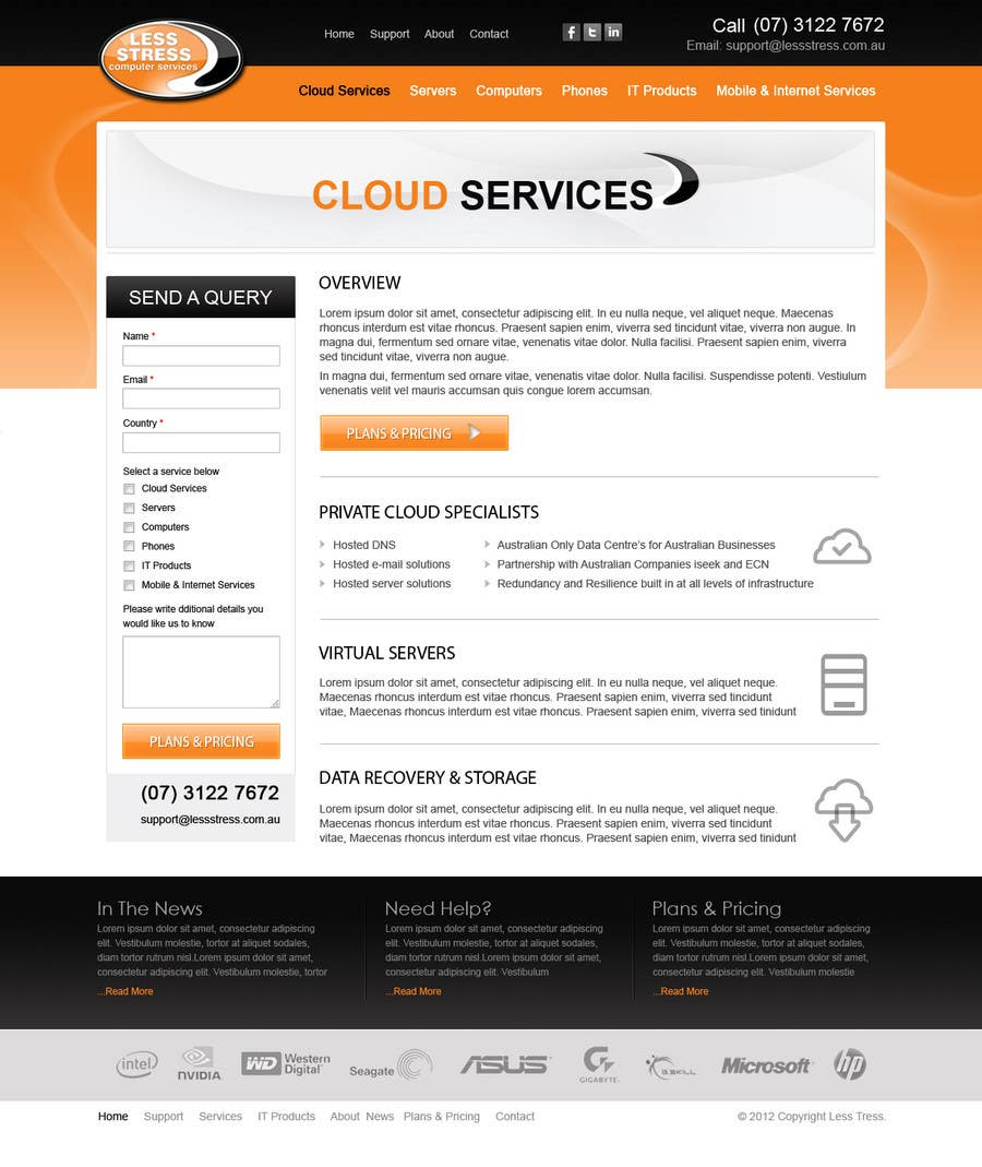 #27 for Website Design for Less Stress Computer Services by brnbhttchry