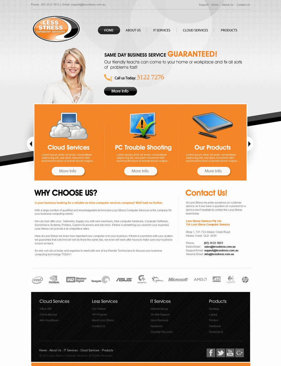 #11 for Website Design for Less Stress Computer Services by techwise