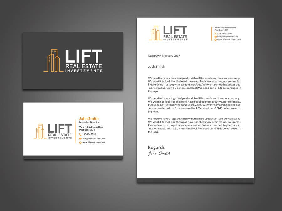 Contest Entry 90 For Design Some Business Cards And Letterhead A Real Estate Investment