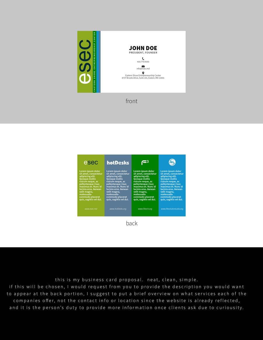 Entry 223 by irvingtimado11 for esec business card freelancer esec business card colourmoves