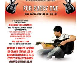 #31 untuk Flyer Design for Gitaartabs.nl an online guitar community with pro vido lesson and songs oleh xhzad