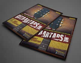 #18 cho Flyer Design for Gitaartabs.nl an online guitar community with pro vido lesson and songs bởi thuanbui