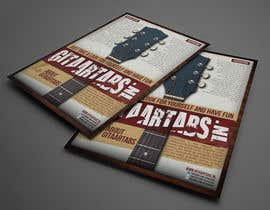 #7 untuk Flyer Design for Gitaartabs.nl an online guitar community with pro vido lesson and songs oleh thuanbui