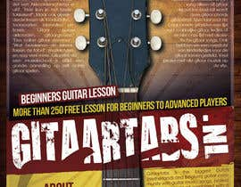 #15 para Flyer Design for Gitaartabs.nl an online guitar community with pro vido lesson and songs por thuanbui