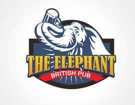 nº 207 pour Logo Design for The Elephant British Pub par shirei