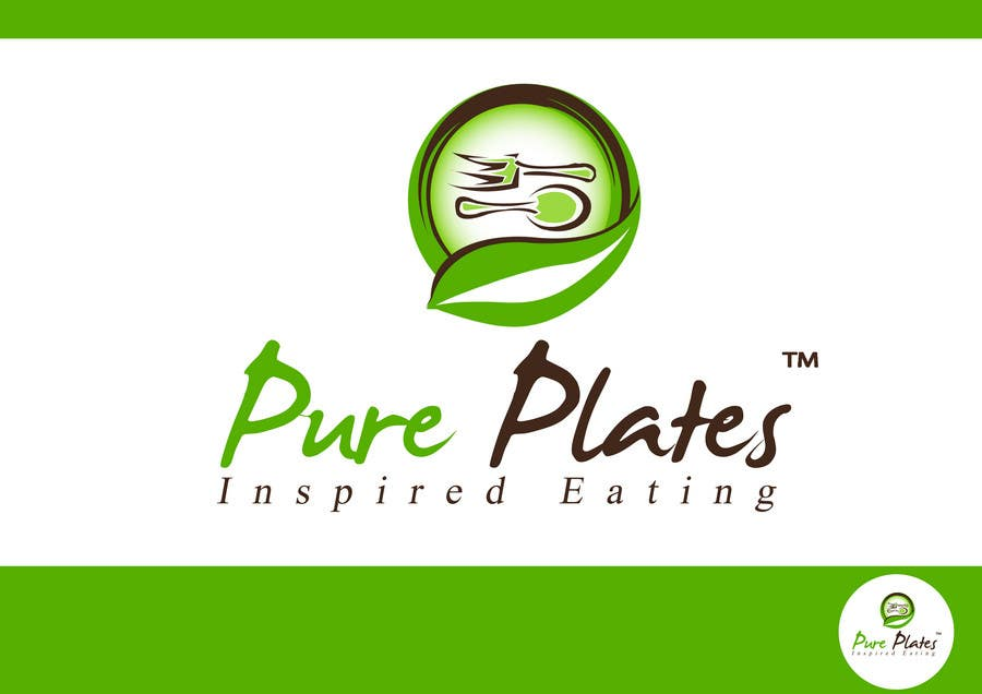 "Inscrição nº 216 do Concurso para Logo Design for ""Pure Plates ... Inspired Eating"" (with trade mark bug)"