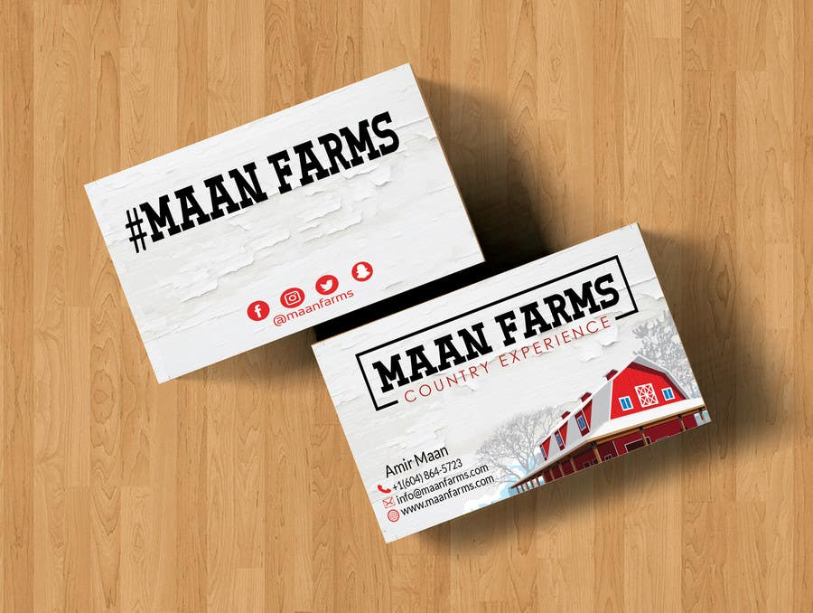 Entry #274 by GamalAbdElnaser for Modern Country Business Card ...