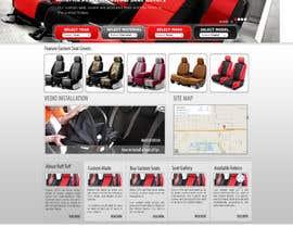 #24 untuk Design a Website Mockup for an auto seat cover manufacturer oleh webmastersud