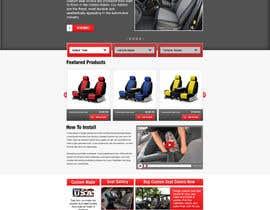 #3 untuk Design a Website Mockup for an auto seat cover manufacturer oleh gravitygraphics7