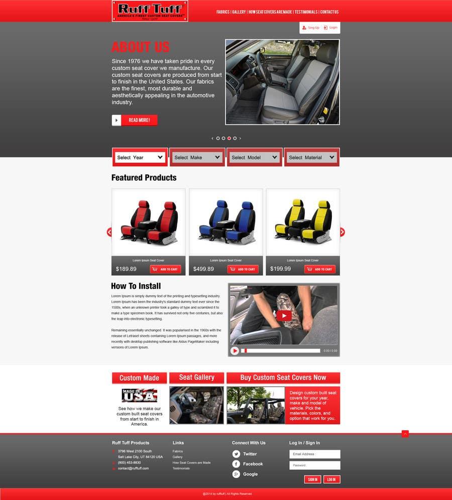 Penyertaan Peraduan #                                        5                                      untuk                                         Design a Website Mockup for an auto seat cover manufacturer