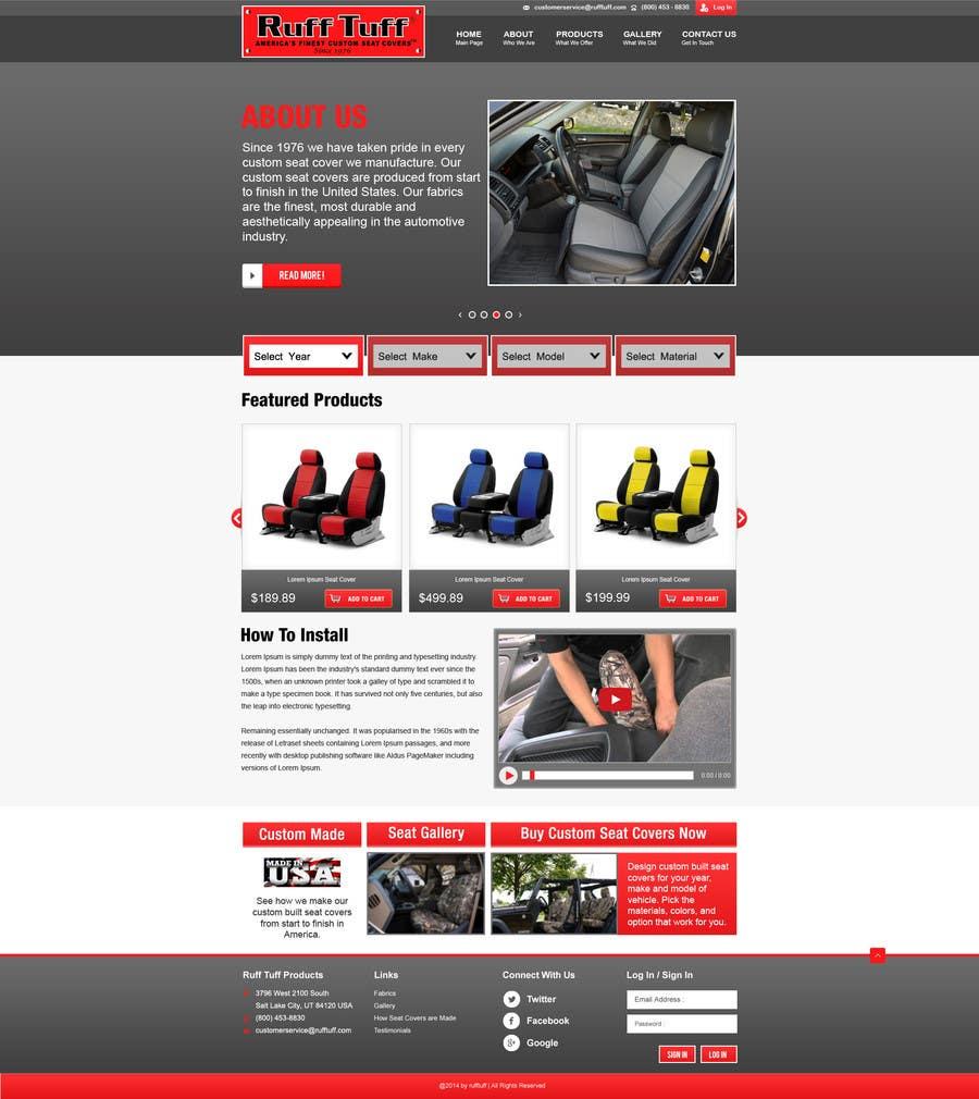 Penyertaan Peraduan #                                        7                                      untuk                                         Design a Website Mockup for an auto seat cover manufacturer