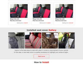 #8 untuk Design a Website Mockup for an auto seat cover manufacturer oleh hshahijanian