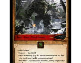#23 for Trading card game template design with two different backgorunds and the back of the card designed by ivek351