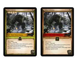 #26 for Trading card game template design with two different backgorunds and the back of the card designed by ivek351