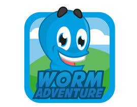#41 untuk Icon for Worm game on iPhone and iPad oleh abatastudio