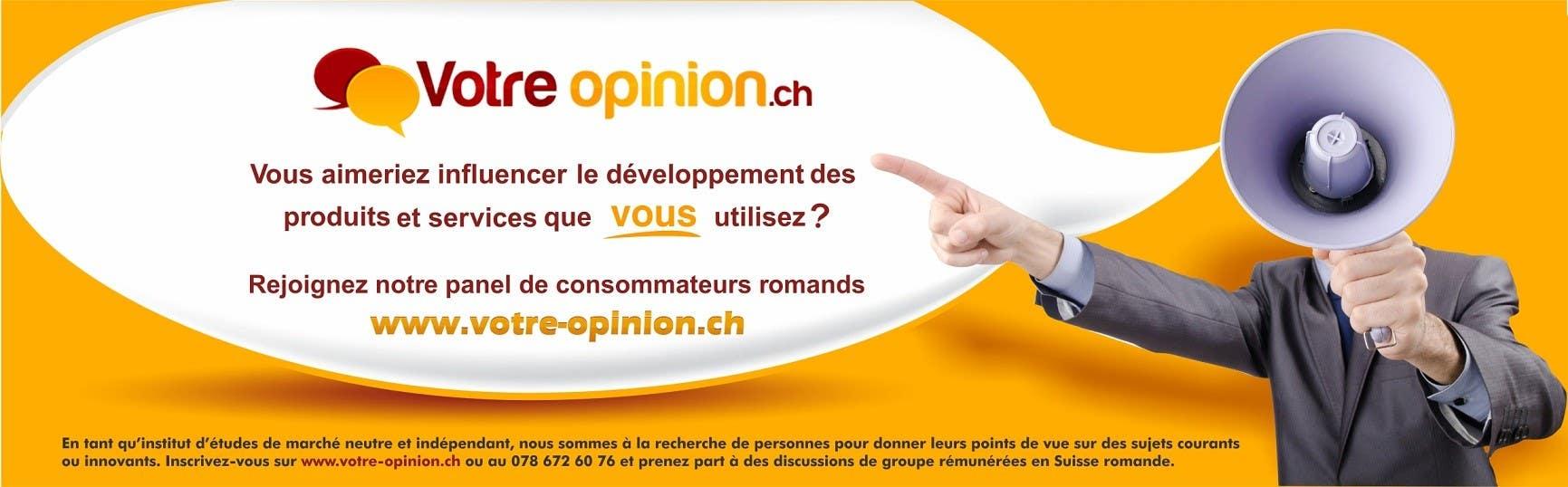 Inscrição nº                                         87                                      do Concurso para                                         Advertisement Design for www.votre-opinion.ch