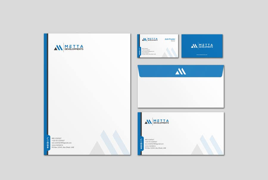 entry 41 by mdreyad for design our stationary suite business cards
