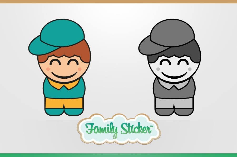 Bài tham dự cuộc thi #                                        12                                      cho                                         Logo & Sticker design x 50  for Family Sticker Concept for new market