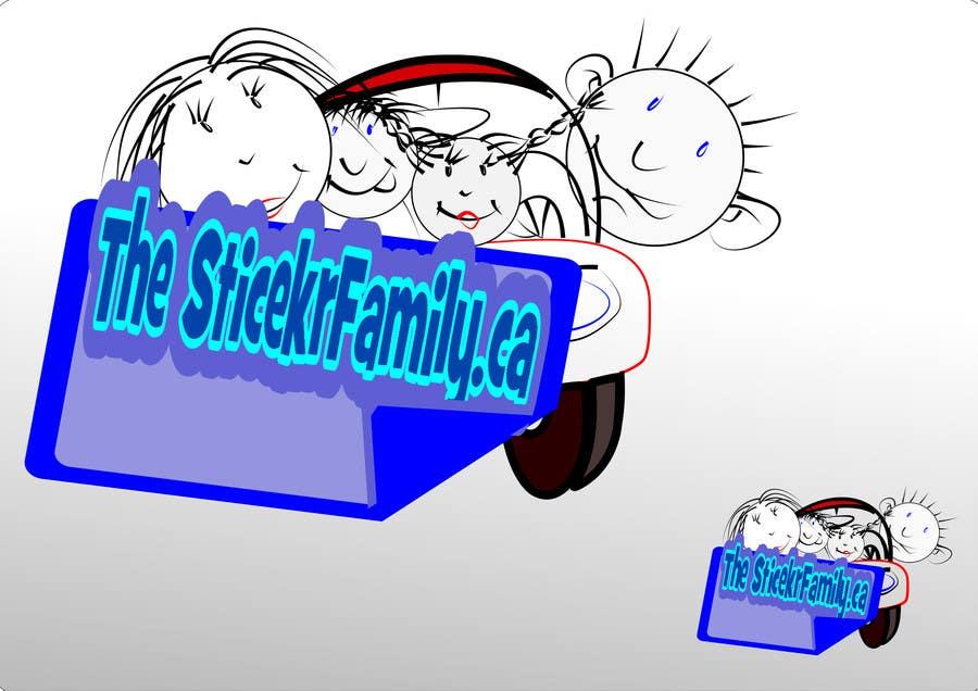 Proposition n°                                        22                                      du concours                                         Logo & Sticker design x 50  for Family Sticker Concept for new market