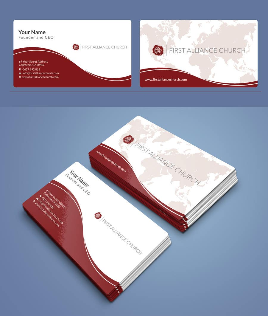 Entry #189 by R4960 for church business cards | Freelancer