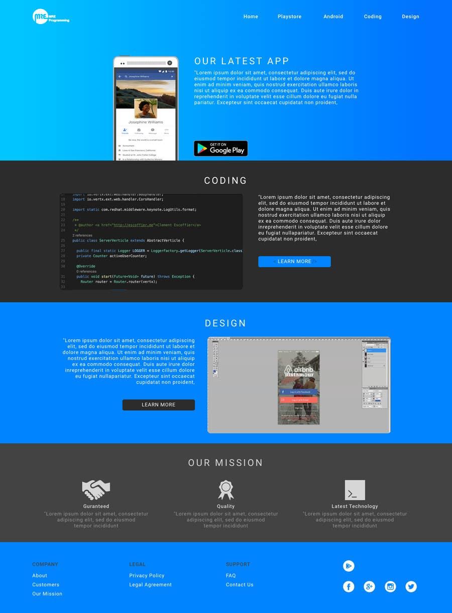 Contest Entry #                                        5                                      for                                         Design a Website Mockup (Design ideas not HTML)