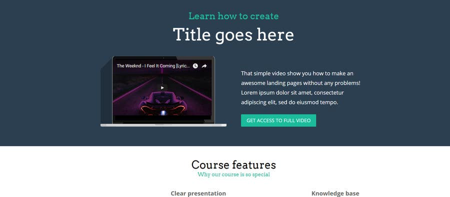 #4 for Refine 4 Squeeze Pages as HTML & Wordpress Template Compatible by beezkneezz