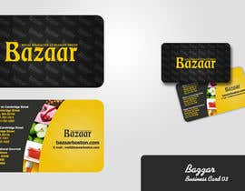 #46 para Business Card Design for Bazaar por dirav