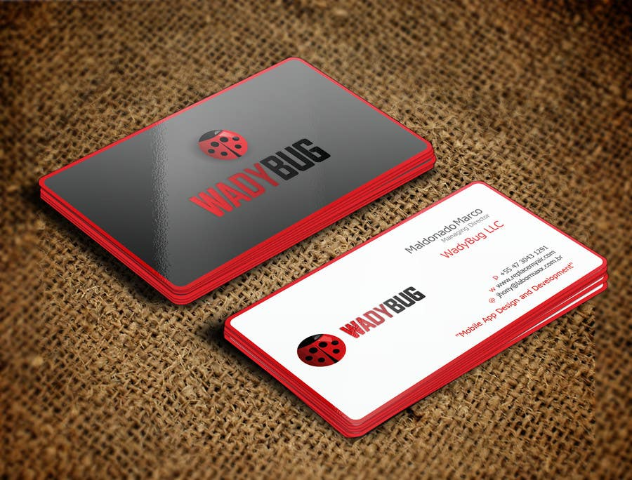 Entry 105 by nihon5 for design business card for mobile app business card colourmoves