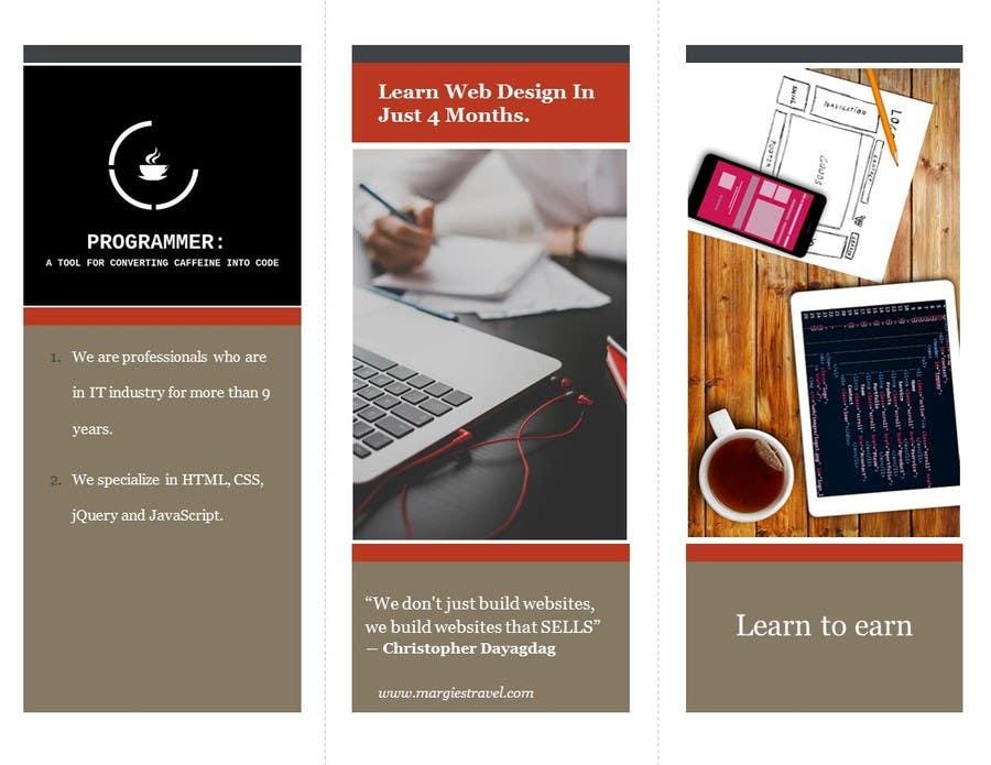 Entry #1 by imtiazlibran for Design Leaflet For Web Design Training