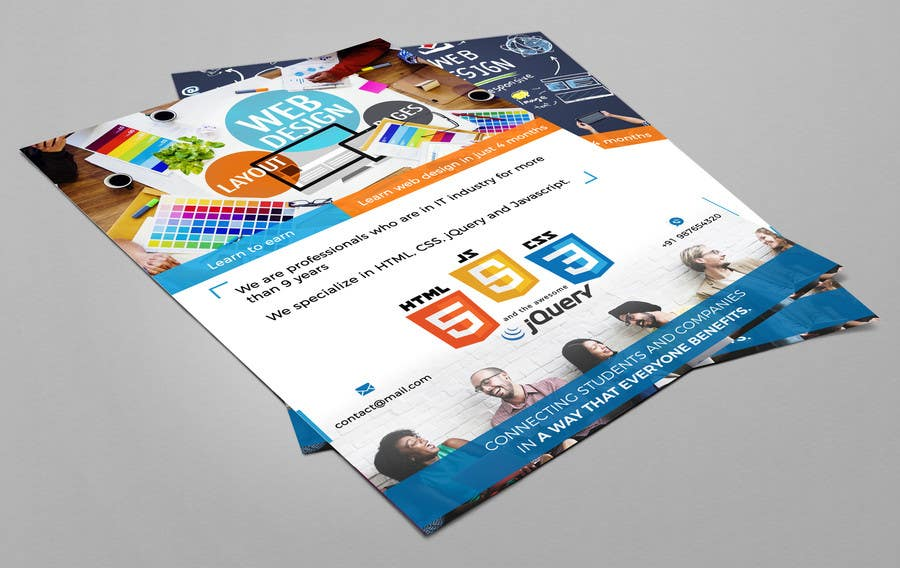 Entry #3 by abhimanyu3 for Design Leaflet For Web Design Training