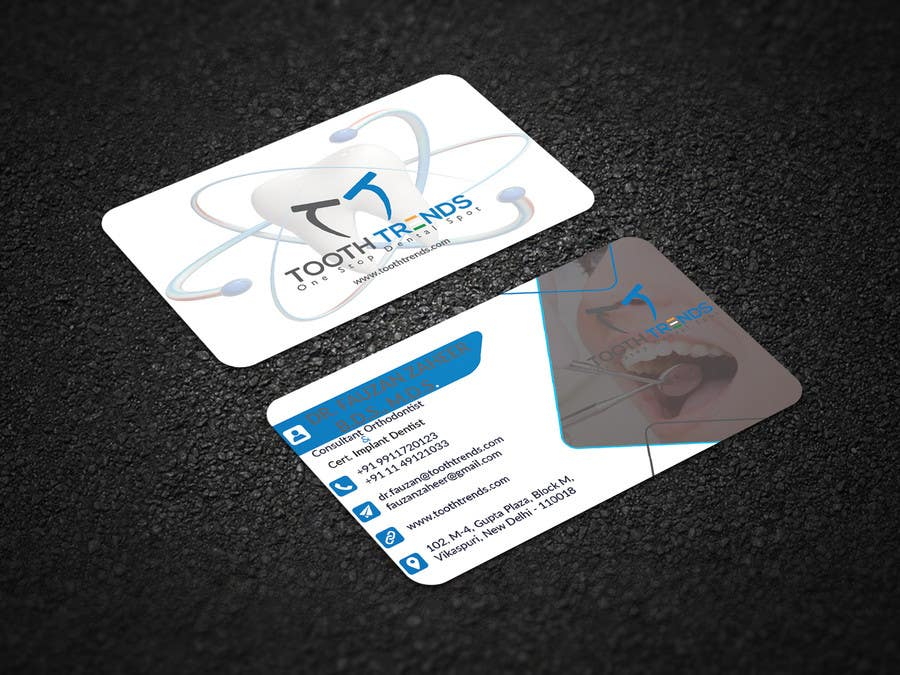 Entry 46 by pranthadebonath for creative business card and contest entry 46 for creative business card and letterhead design required for an orthodontist reheart Choice Image
