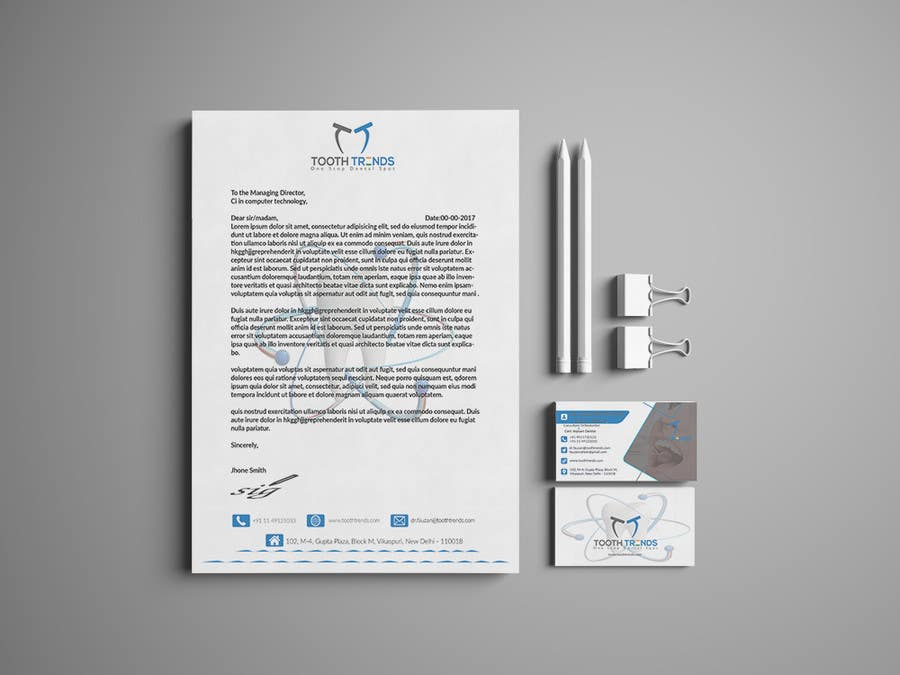 Entry 47 by pranthadebonath for creative business card and contest entry 47 for creative business card and letterhead design required for an orthodontist reheart Images