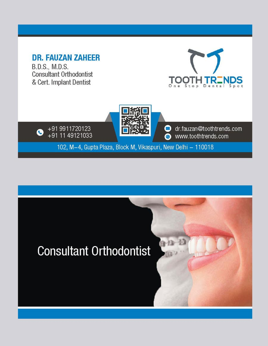 Entry 185 by arenadfx for creative business card and letterhead contest entry 185 for creative business card and letterhead design required for an orthodontist reheart Choice Image