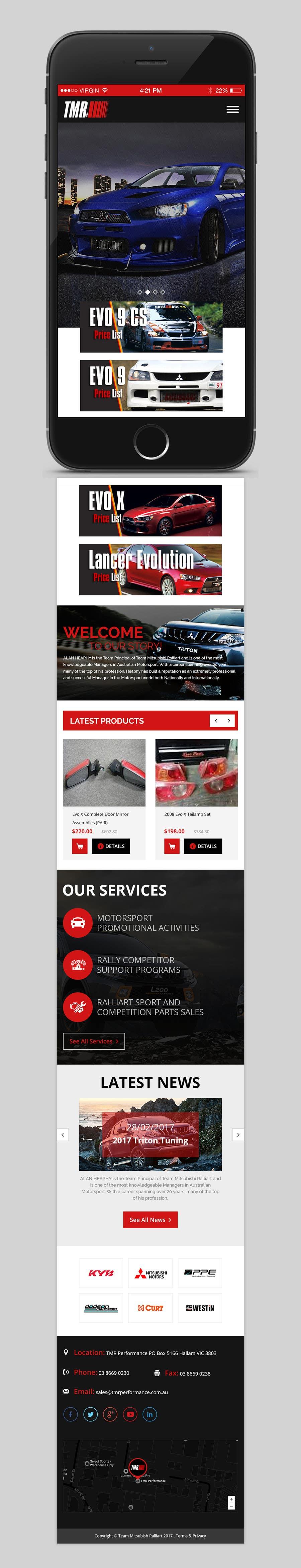 #12 for Motorsport psd for Wordpress by yasirmehmood490