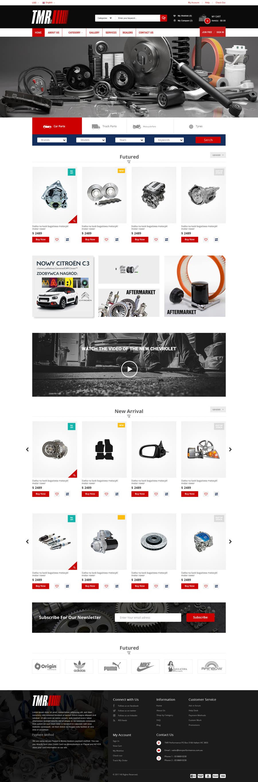 #4 for Motorsport psd for Wordpress by RamisRathore