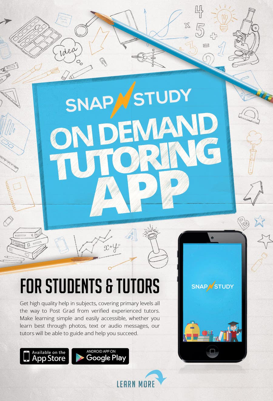 entry 17 by belliskc for design a tutoring app flyer freelancer