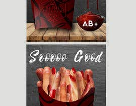 "#24 para Large 3' x 4' poster for a zombie fast food restaurant of a box of ""severed fingers"" de Kitteehdesign"