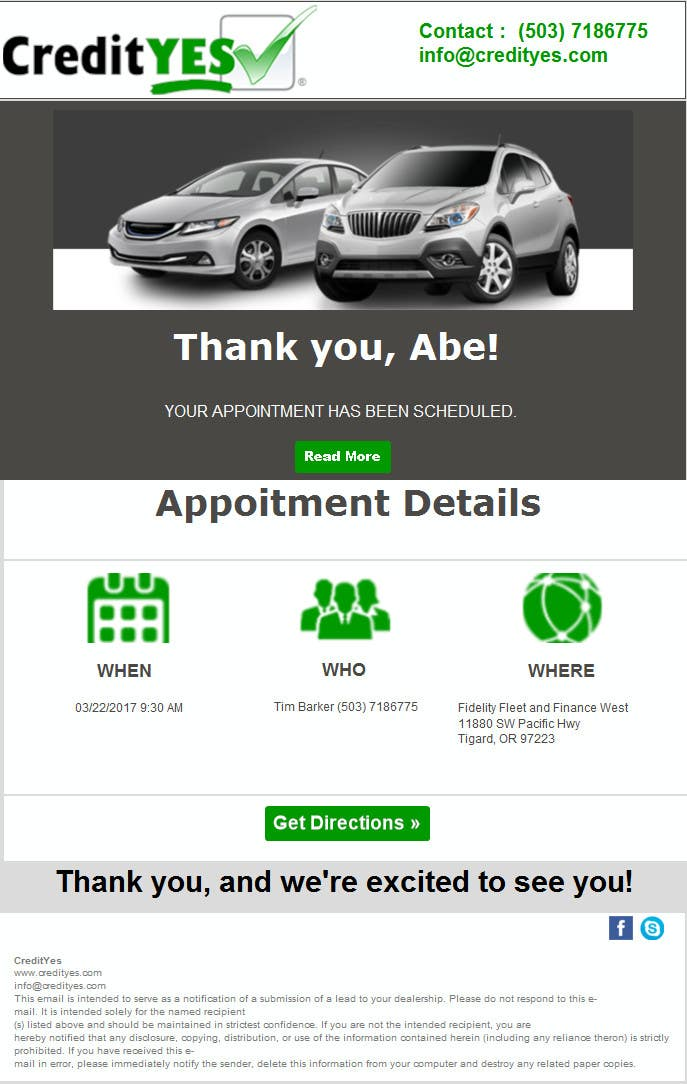 Contest Entry #23 for Appointment Email Template