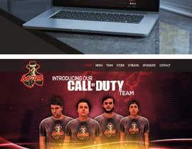 #3 for Gaming Team Website by Kitteehdesign