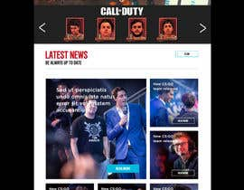 #7 for Gaming Team Website by Kitteehdesign