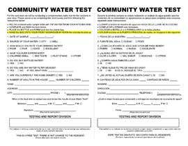 #1 for WATER TEST FORM DESIGN by beltran0404