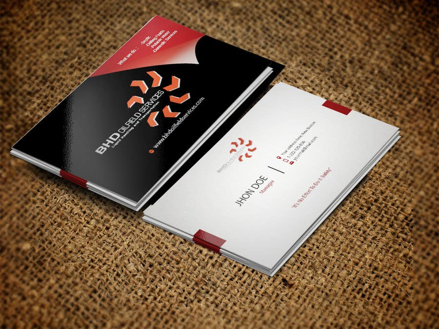 Entry #14 by Fidelism for BHD Oilfield Services Business Cards ...